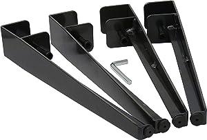 "Shepherd Hardware 16"" Adjustable Fit Table Clamp Legs, Raw Finish"