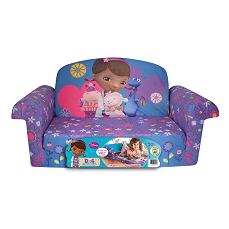 Marshmallow Furniture Childrenu0027s 2 In 1 Flip Open Foam Sofa, Disney Doc  McStuffins, By