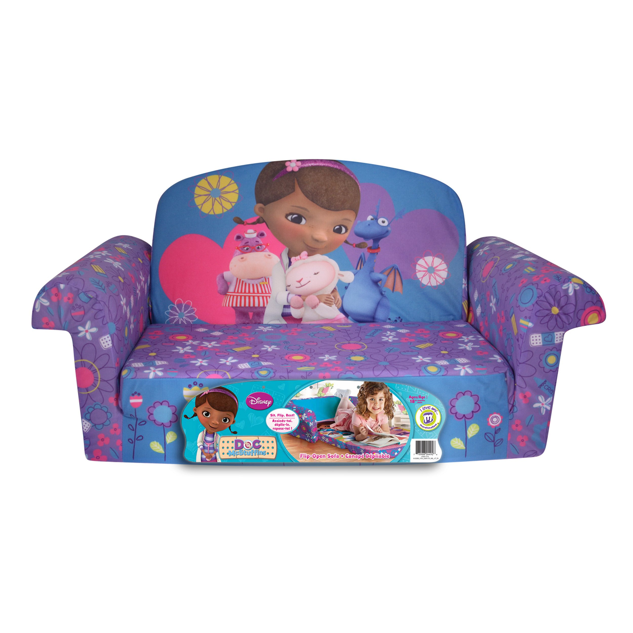 Marshmallow Furniture Disney Doc McStuffins Flip Open Sofa eBay