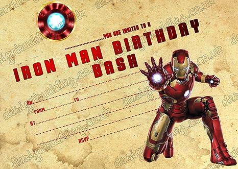 Ironman superhéroe/10 niños fiesta de cumpleaños ...