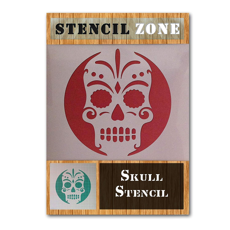 Sugar Candy Skull Bone Mylar Airbrush Painting Wall Art Crafts Stencil 1-XL STENCIL ZONE