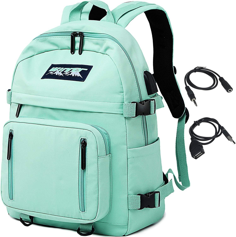 HASAGEI Mochila Escolares Juveniles para 15.6'' Portátil Mochila Unisex de Carga USB Backpack Resistente Al Agua Universitaria Daypacks para Mujeres Hombres