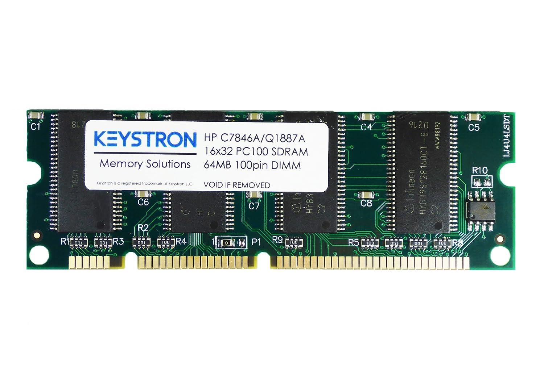 HP C3913A C7846A Q1887A Q7708AX 64MB 100 pin PC100 SDRAM MEMORY for HP Color LaserJet 1200 1200se 1200n 1220 1320 1300 1300n