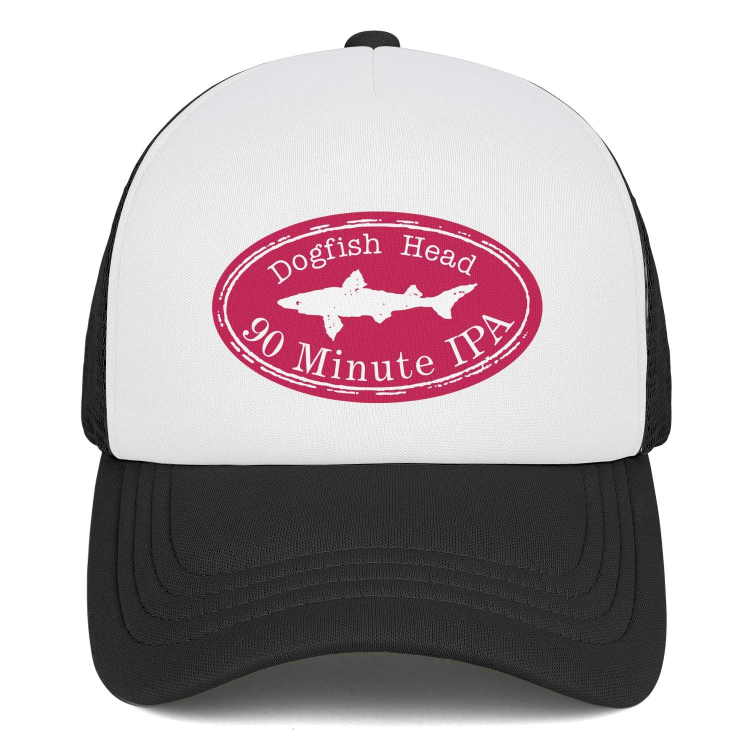 Adjustable Baseball Cap Curved Trucker Hat All Cotton Personalitycaps Mens Dogfish-Head-Logo