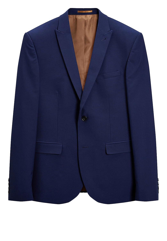 next Hombre Traje: Chaqueta Entallada Azul Brillante EU 112 XLong ...