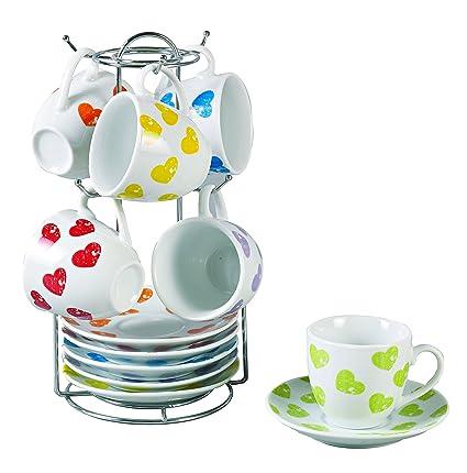 Borella Casalighi cuorecolor Juego de café con plato y ...