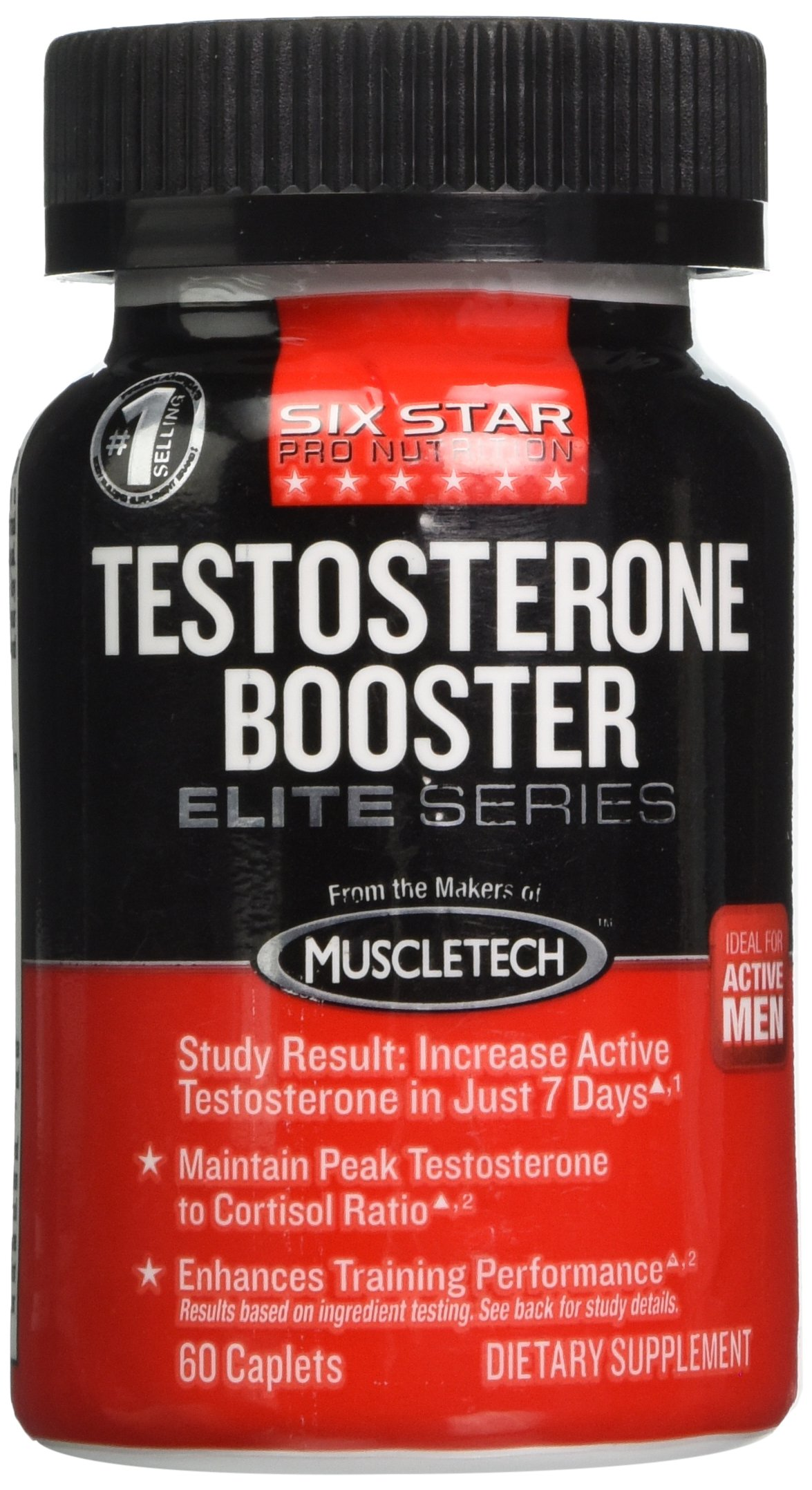 Six Star Professional Strength Testosterone Booster, Caplets, 60 (Pack of 2)