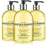 Baylis & Harding Hand Wash, Sweet Mandarin and Grapefruit, 500 ml, Pack of 3