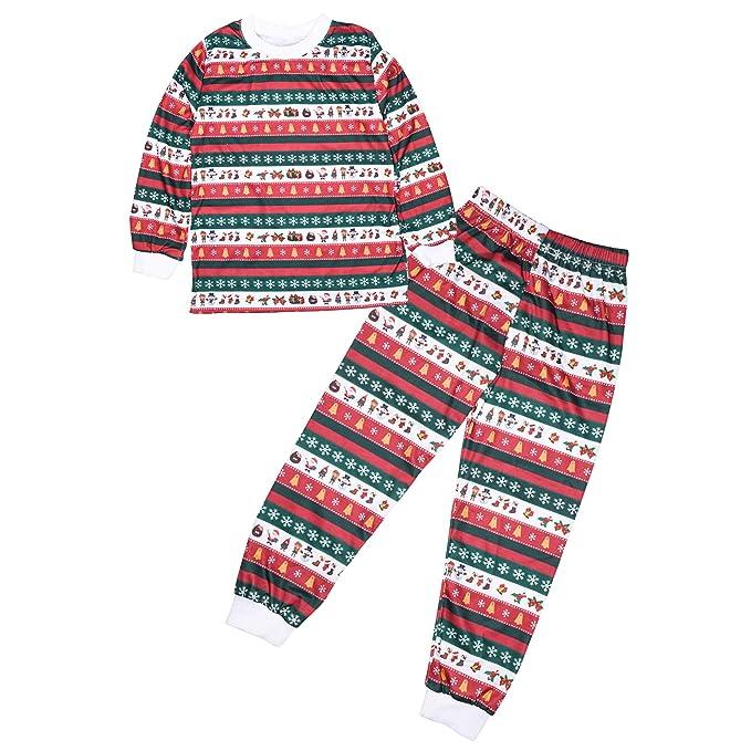 ZEVONDA Xmas Ropa de Dormir Familiar - Pijamas de Navidad a Juego Hombres Mujeres Niños de