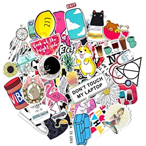 Stickers for Water Bottles Big 50-Pack Cute Aesthetic Trendy Stickers for Teens Kids Girls and Boys, Perfect for Hydro Flask Laptop Notebook Phone Car Skateboard