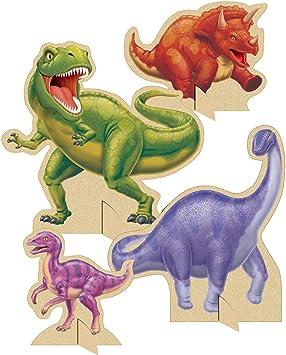 COOLMP – Juego de 6 centros de Mesa de cumpleaños con Dinosaurios – Talla única – Decoración y Accesorios de Fiesta, animación, cumpleaños, Boda, Evento, Juguete, Globo: Amazon.es: Juguetes y juegos