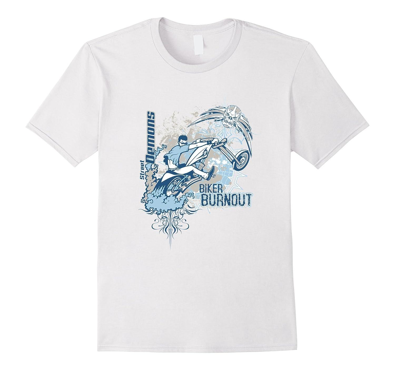 Biker Burnout Graphic Tees For Men T Shirts For Women-Art