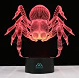 Spider 3D LED Night Light Touch Table Lamps 7 Color