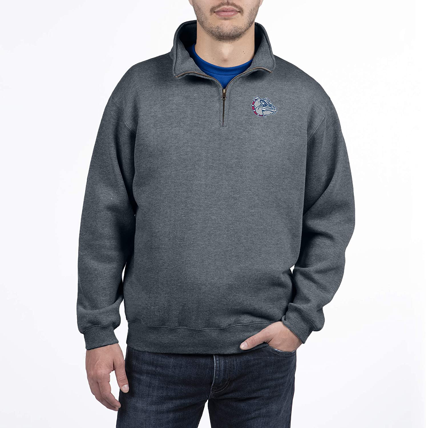 Top of the World Mens Dark Heather Classic Quarter Zip Pullover