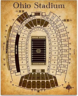 Amazon.com: Ohio Estadio Blueprint Estilo Impresión: Sports ...