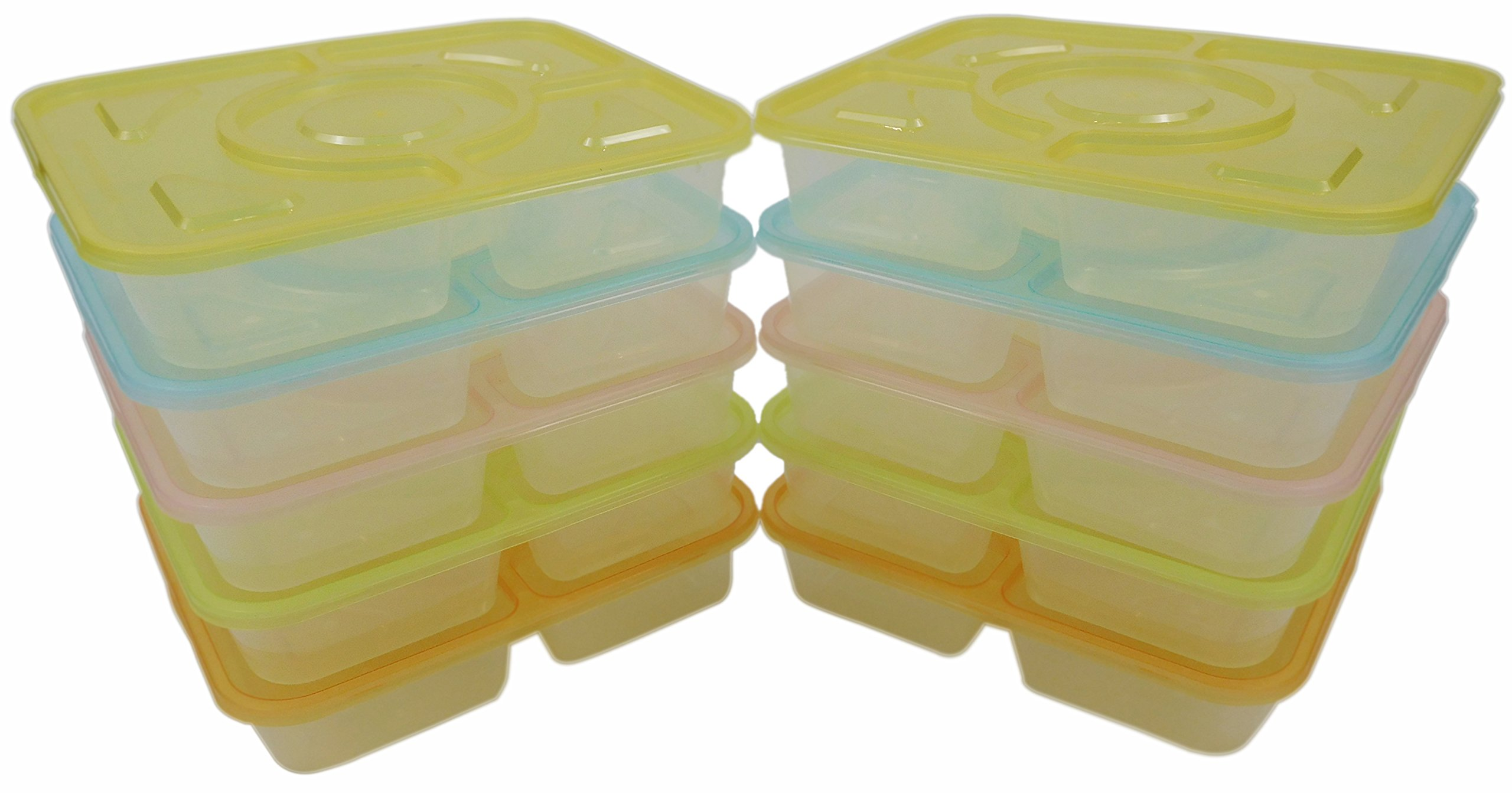 Table To Go 240-Pack Bento Lunch Boxes with Lids (4 Compartment/ 36 oz) (Multicolor Lids)