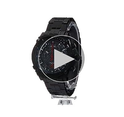 Bulova Men's 'Precisionist' Quartz Stainless Steel Watch, Color:Black (Model: 98B257)