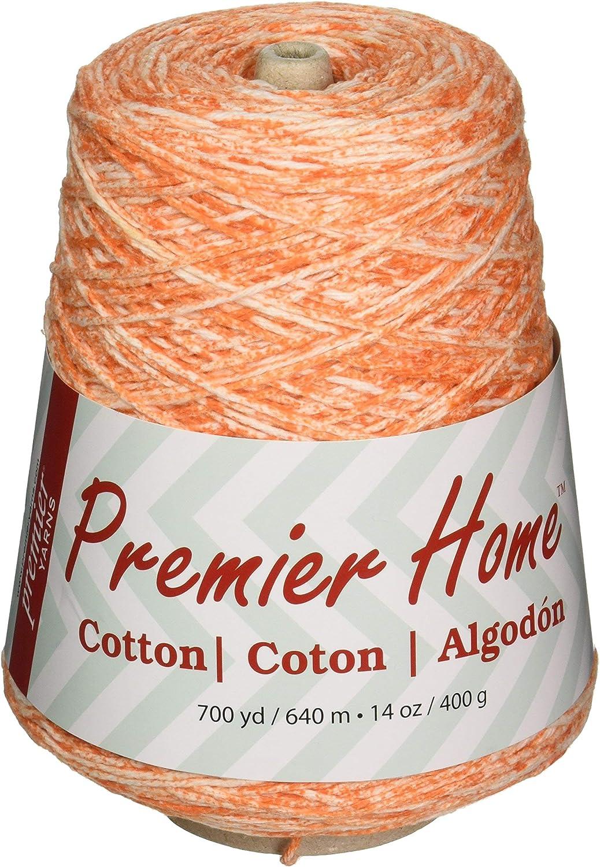 Premier Yarns 1032-04 Home Cotton Yarn - Multi Cone-Tangerine Splash