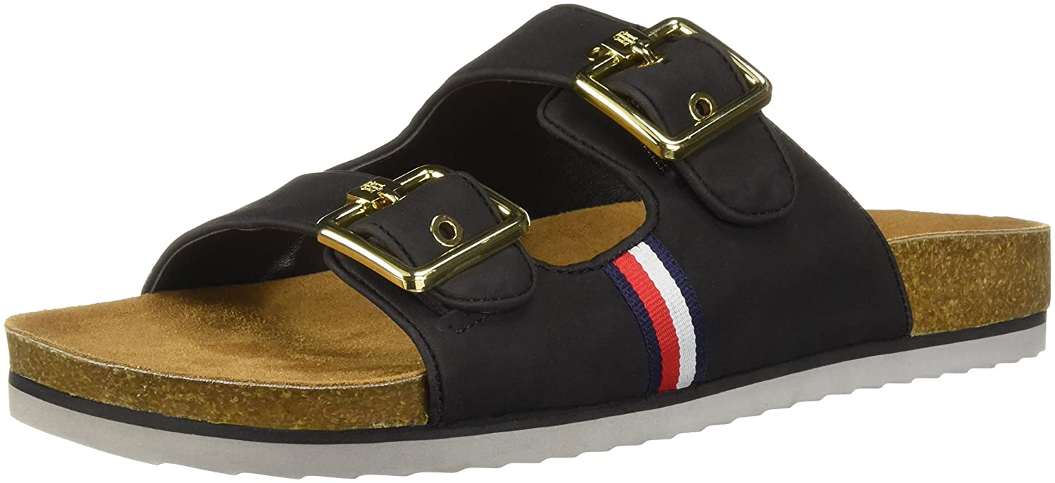 Tommy Hilfiger Women's Ginga Slide Sandal B07D7PY7TC 7 B(M) US|Black