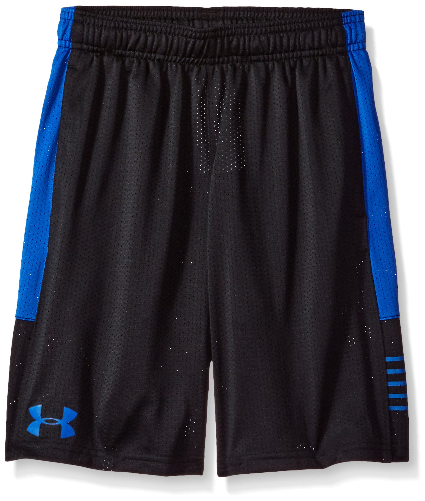 Under Armour Boys' Train To Game Shorts,Black (001)/Ultra Blue, Youth X-Small