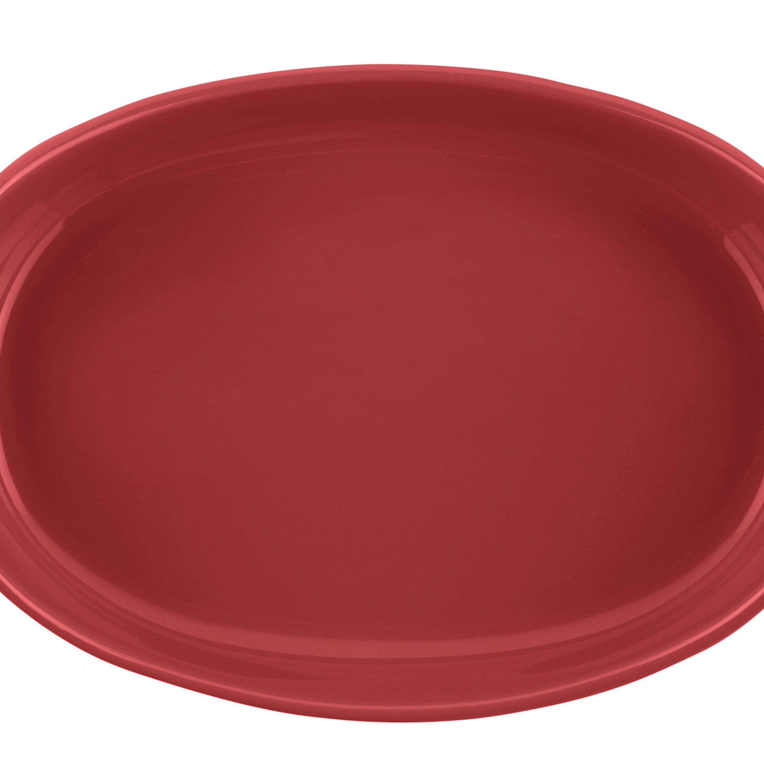 Rachael Ray Stoneware 1-1/4-Quart and 2-1/4-Quart Oval Bubble & Brown Baker Set, Red by Rachael Ray (Image #5)