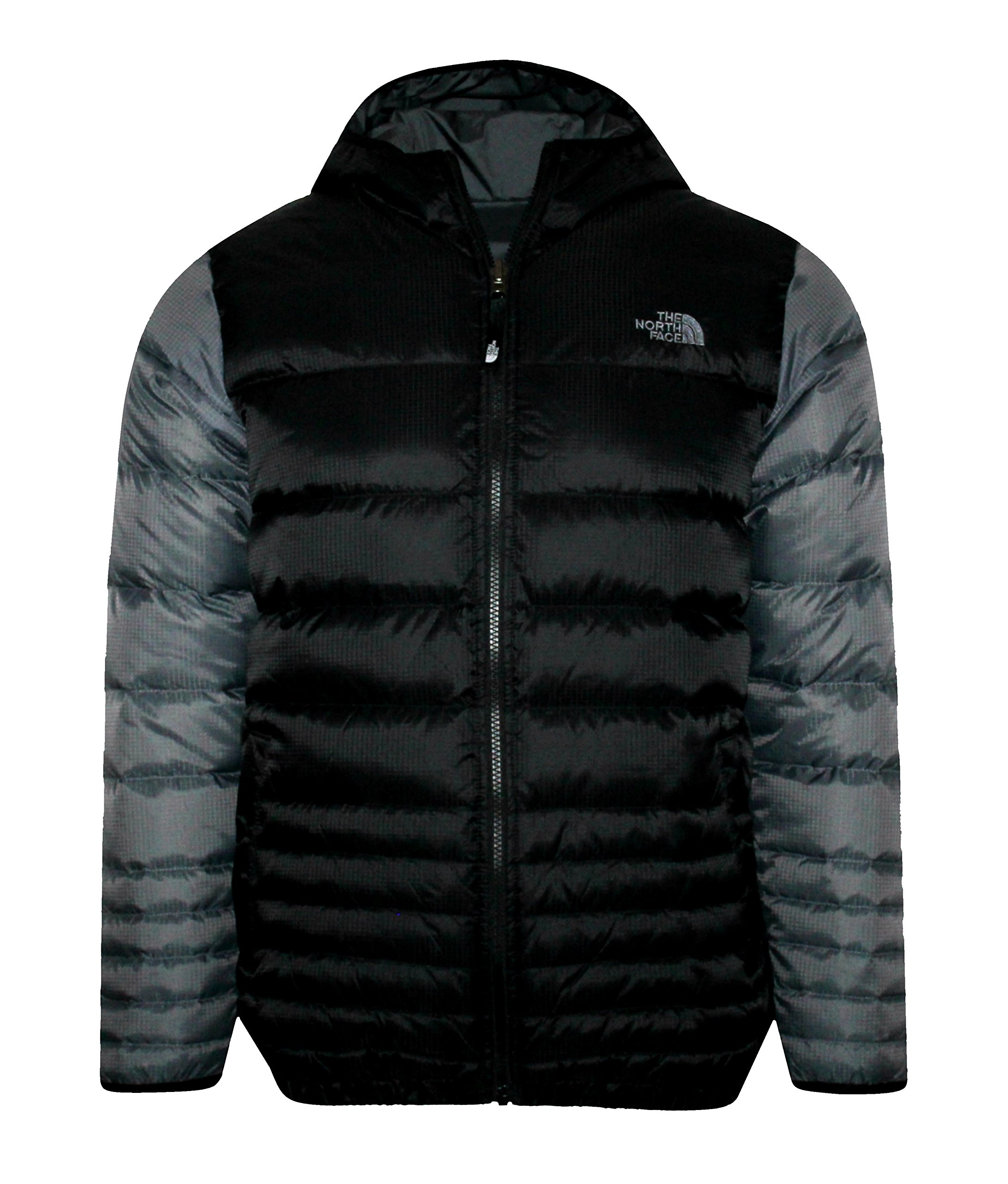 THE NORTH FACE youth boys REESE DOWN REVERSIBLE hooded JACKET  Tnf Black/Grey (M 10/12)