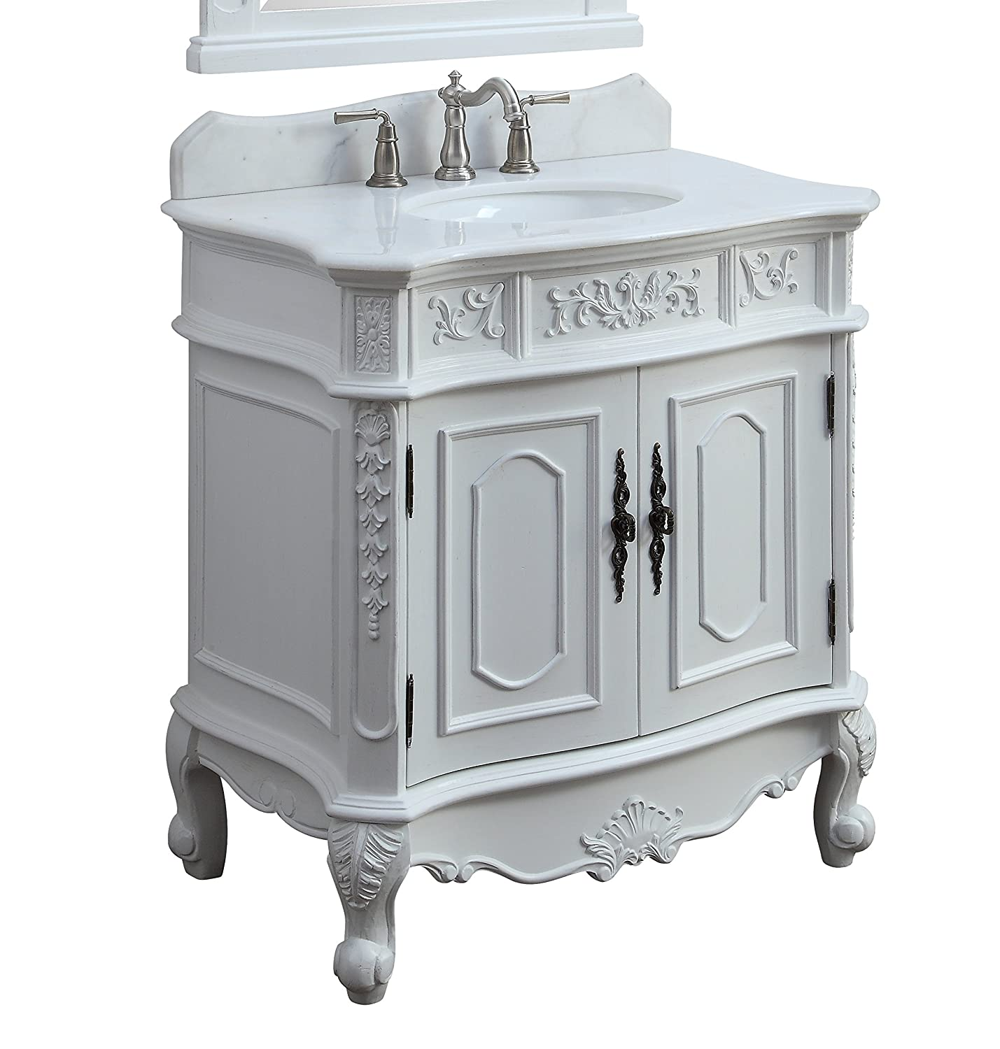 33 Benton Collection Unique Classic Benson Bathroom Sink Vanity Model HF021W-AW-33