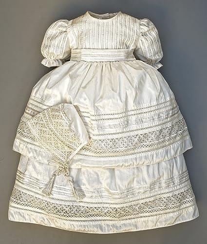 Amazoncom Handmade Christening Gown G007 Baptism Dress Handmade