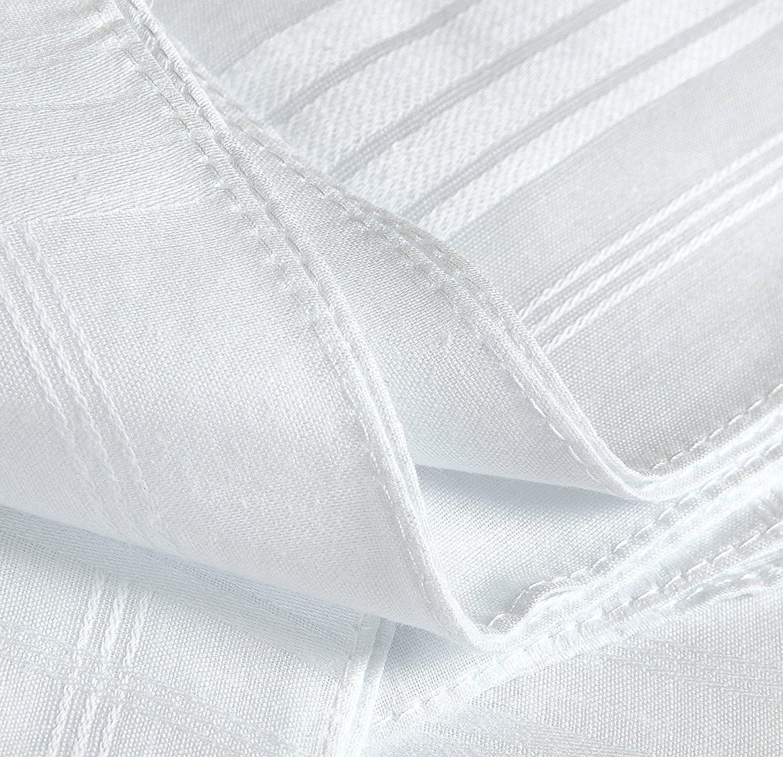 Pack of 12 Pieces Mens Handkerchiefs,100/% Cotton,White Hankie