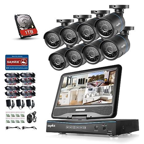Sannce Home 8 ch 720p CCTV DVR sistema grabación con 6 Cámara de vigilancia 720p visión