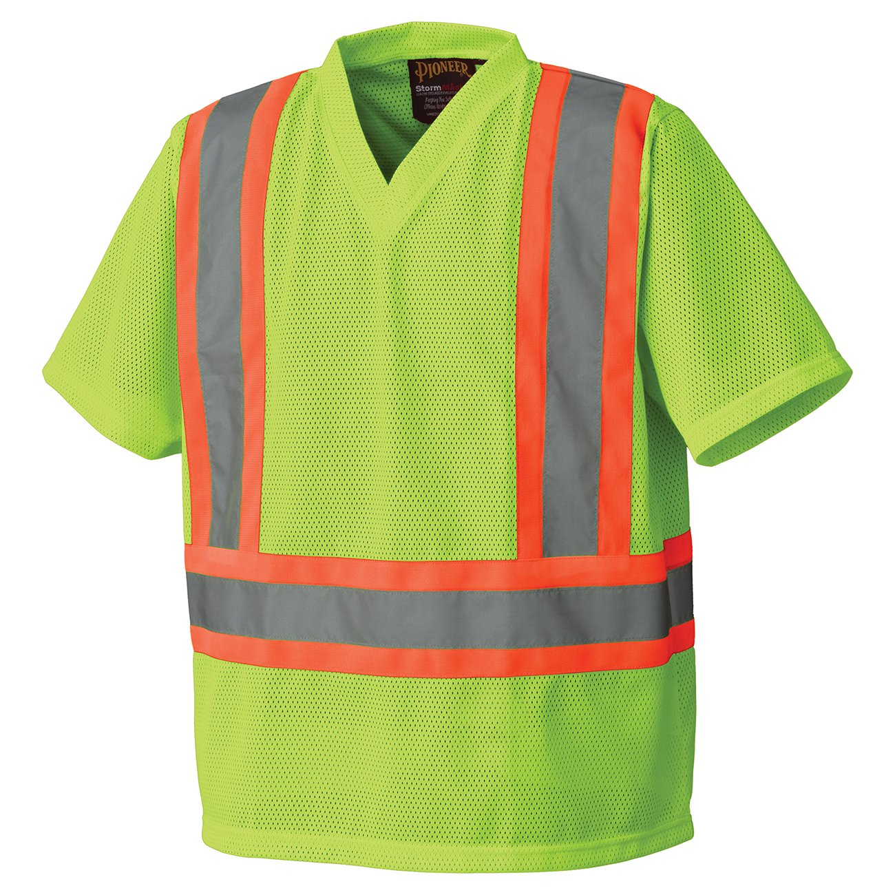 Pioneer V1050450-3XL Hi-Vis Traffic Safety T-Shirt, Mesh, Orange, 3XL
