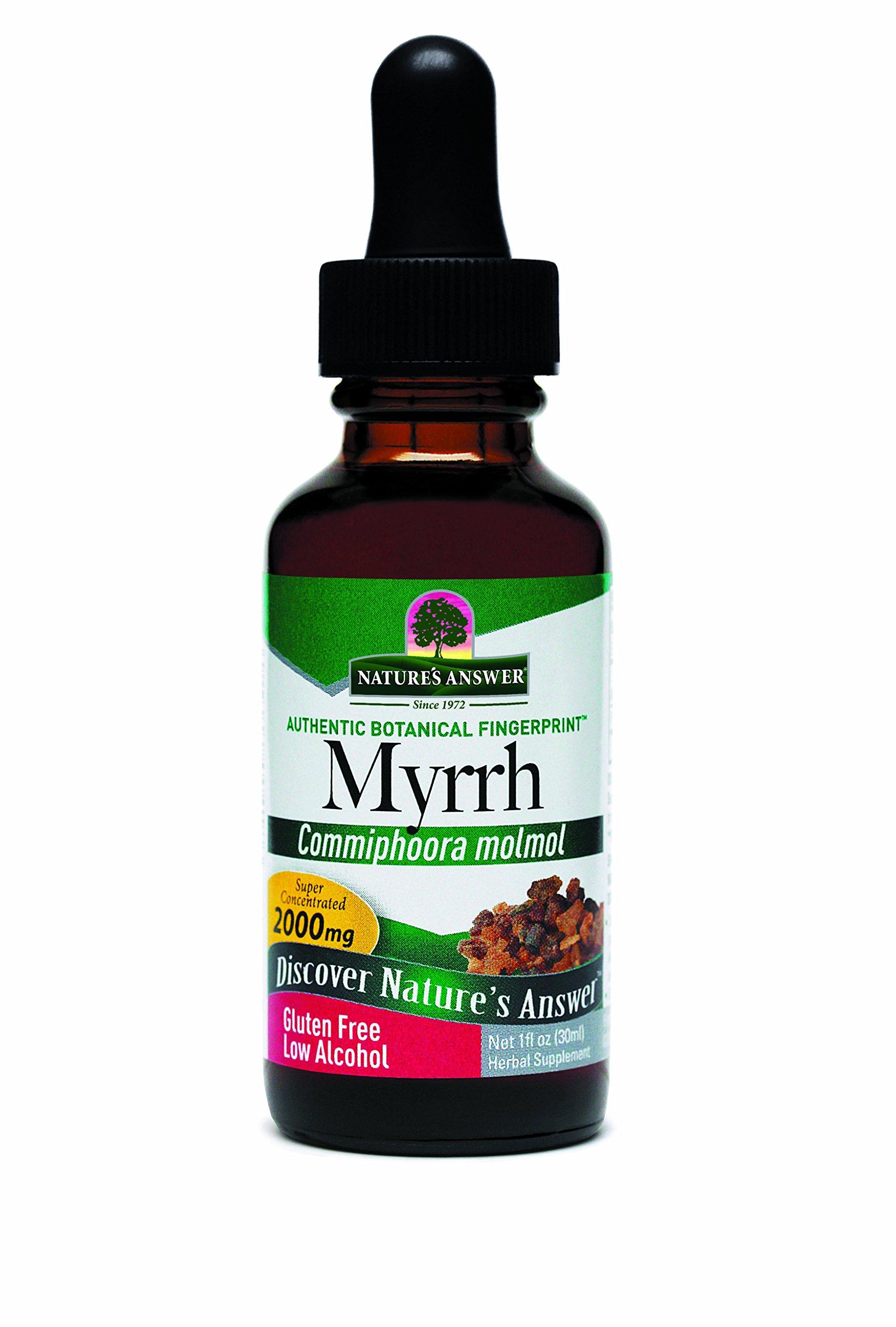 Nature's Answer Myrrh Ole-Gum-Resin with Organic Alcohol, 1-Fluid Ounce