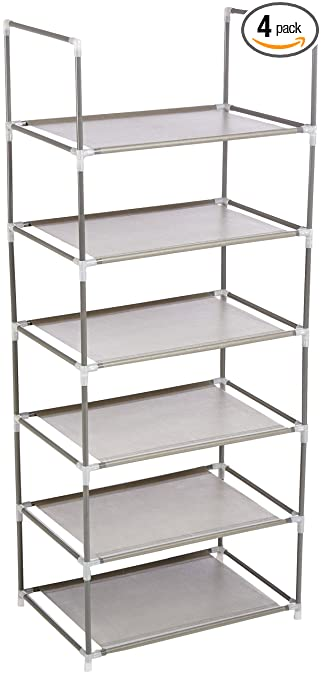 Origami Rs6 04 6 Tier Multi Purpose Shelf Pack Of 4 Home Storage