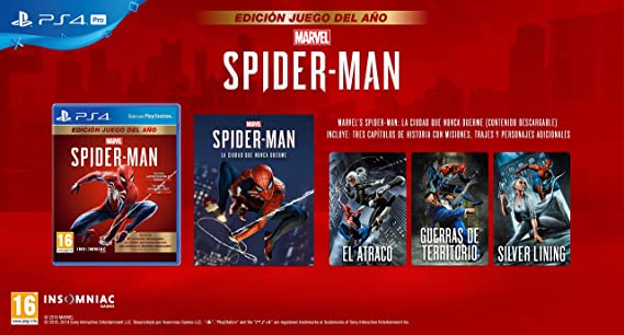 Marvels Spider-Man (PS4) Game of the Year Edition (GOTY): Sony: Amazon.es: Videojuegos