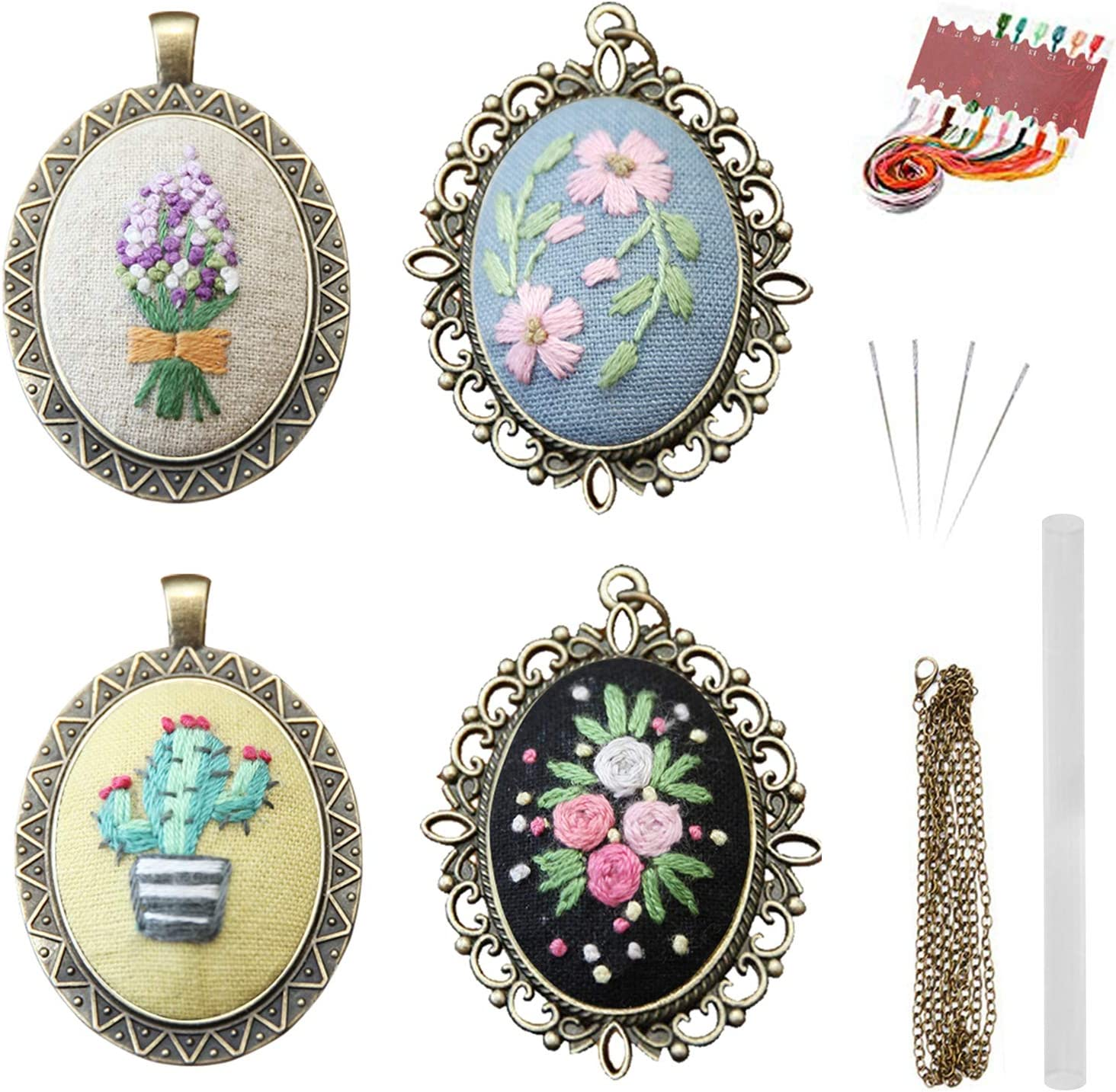 Crochet Necklace Floral Necklace Crochet Flowers Necklace Linen Necklace Mauve Necklace Handmade Jewellery
