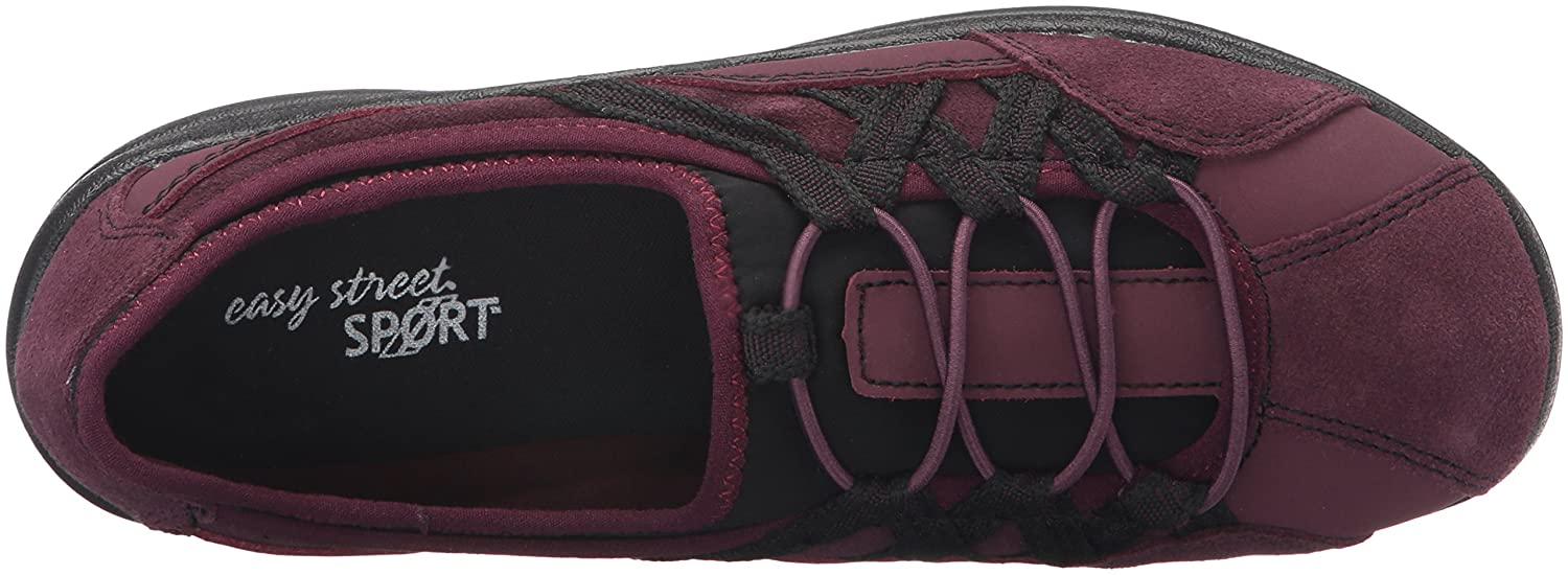Easy Street Women's Laurel Flat B01JU8L2VI 9 W US|Wine Leather/Suede Leather