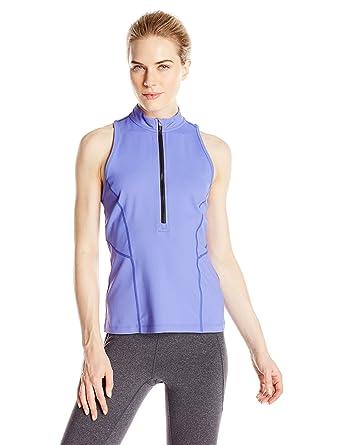 a359005560b9 Calvin Klein Performance Women s Zip Front Scuba Tank at Amazon Women s  Clothing store