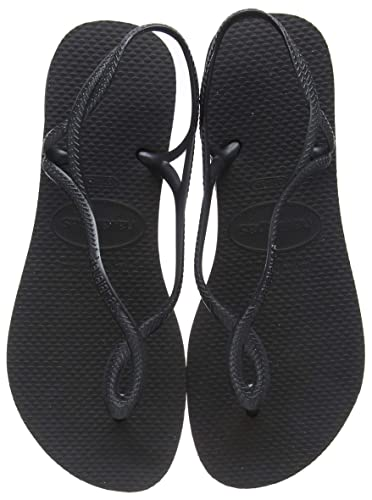 aac9b8db85a Havaianas Luna Womens Black Flip Flops-UK 1-2   EU 35-36