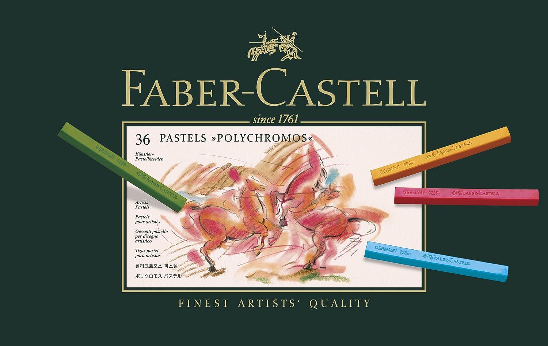 Faber-Castell 128536 Craie pastel Polychromos secs boîte de 36 F128536 Craies pastel