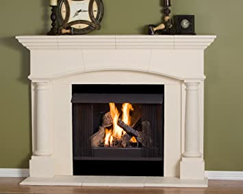 Amazon.com: Kington Thin Cast Stone Adustable Fireplace Mantel Kit - Complete Kit includes hearth and adjustable interior Filler Panels: Home & Kitchen