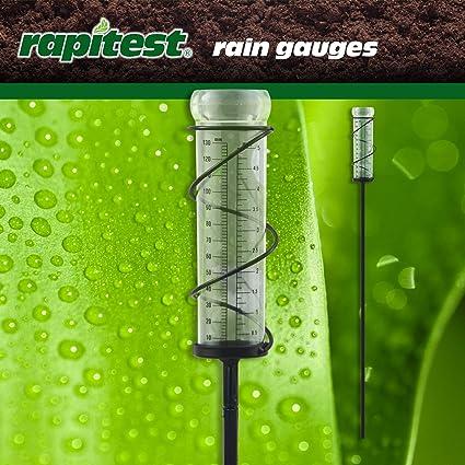 Rapitest  Rain Gauge  Stake  2.9 in L W x 2.9 in