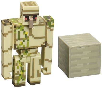 Amazoncom Minecraft Iron Golem Figure Pack Toys Games
