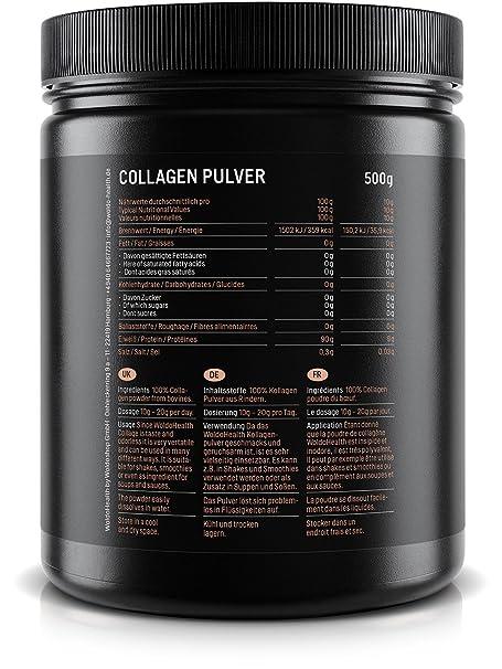 WoldoHealth I Colágeno Bovino I 2 x 500g Polvo I Hidrolizado I 100% Proteína Colágeno de vacuno