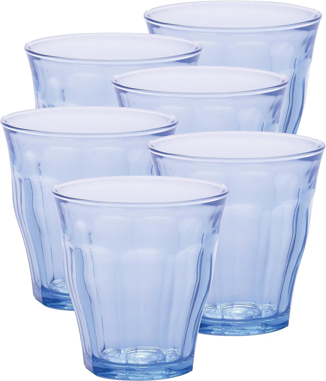 4 x PLASTIC ACRYLIC BLUE//CLEAR GLASSES caravan motorhome camping marine picnic