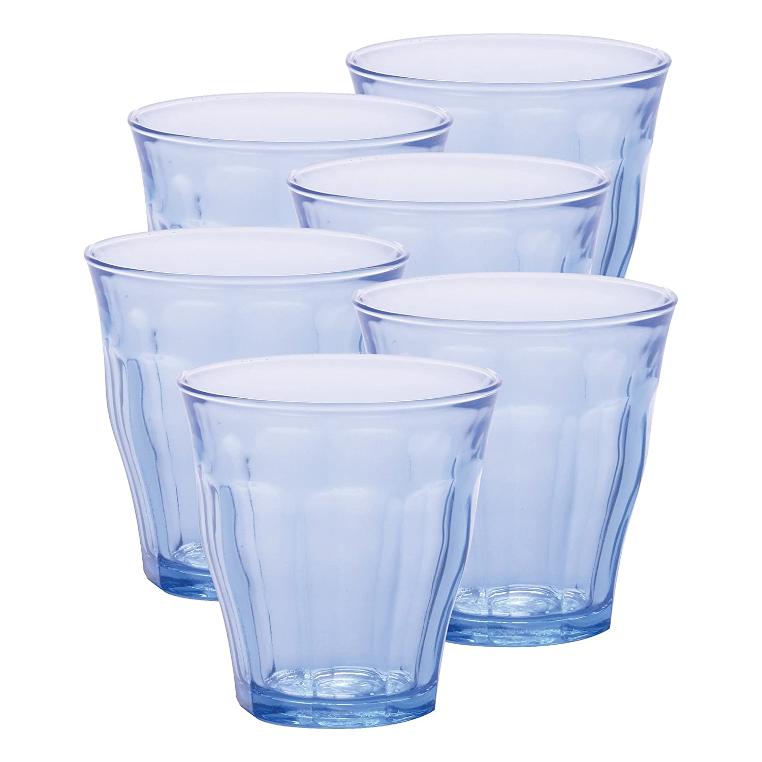 Duralex 25 cl Picardie Tumbler, Pack of 6, Marine Blue: Amazon.co.uk:  Kitchen & Home