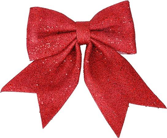 Inxens Paillettes Noeud Rouge Noël Grand Noeud Rouge pour Sapin de