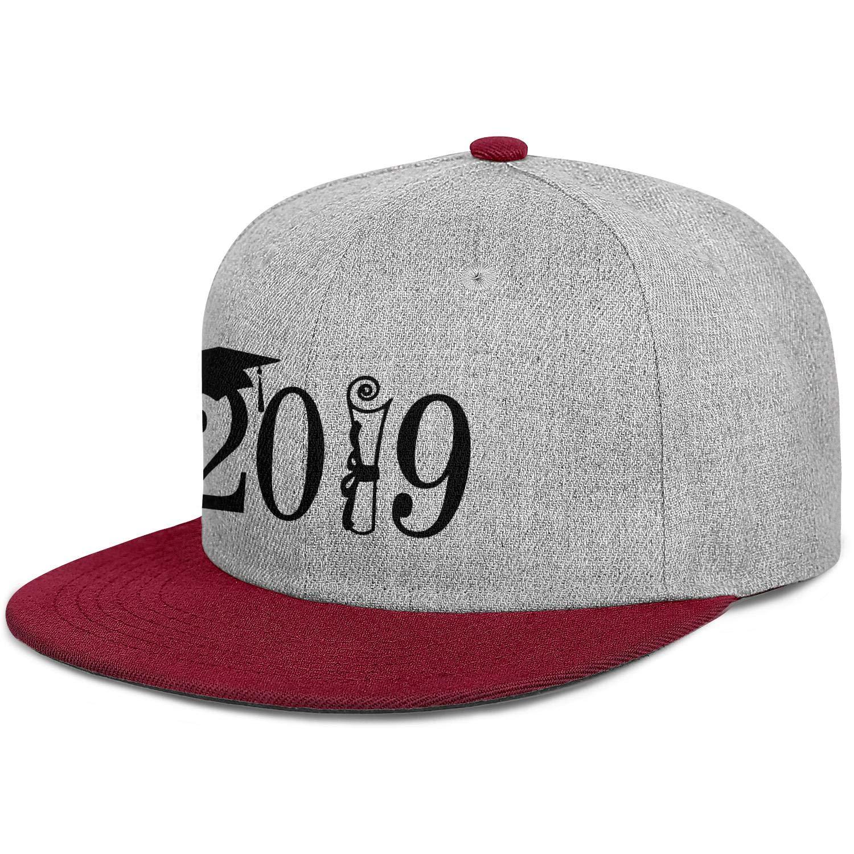 Newpz Happy Graduation 2019 Cap Mens Women Wool Baseball Cap Adjustable Snapback Beach Hat