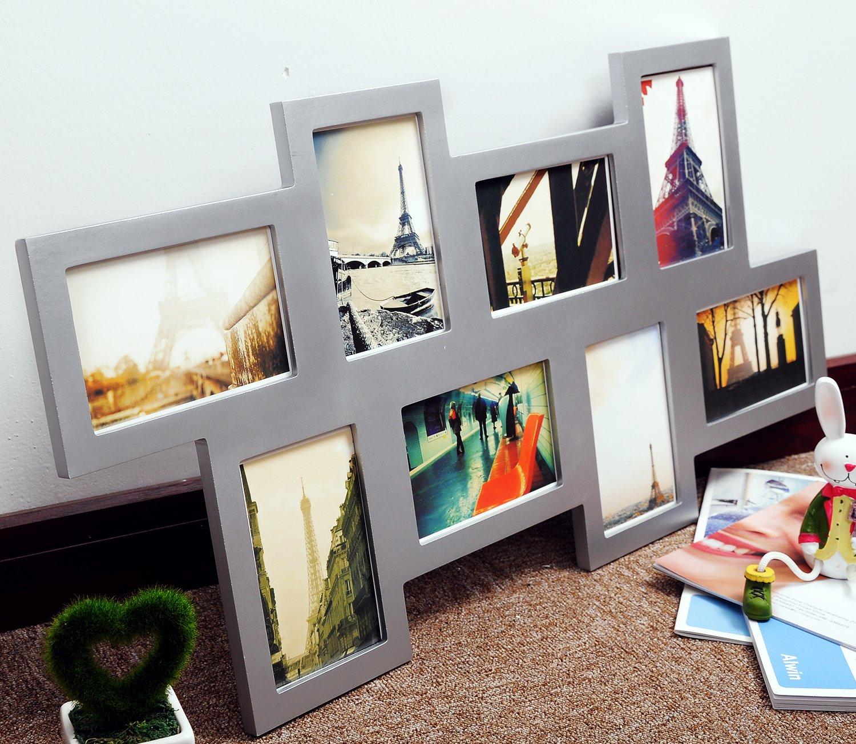 Amazon.de: WOLTU #7 Bilderrahmen Collage, Holz Rahmen, für 8 Fotos ...