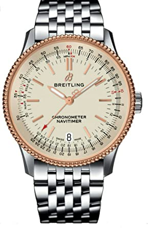 Amazon Com Breitling Navitimer 1 Automatic 38mm Steel Red Gold