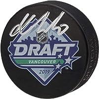 $79 » Kaapo Kakko New York Rangers Autographed 2019 NHL Draft Logo Hockey Puck - Fanatics Authentic Certified